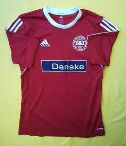 Denmark soccer training jersey small shirt football Adidas ig93