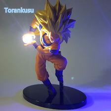 Dragon Ball Z Action Figure Son Goku Kamehameha blue Light DIY