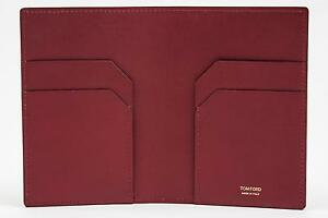 Tom Ford Solid Red Smooth NWT 100% Calf Leather Bifold Wallet Card Holder $400