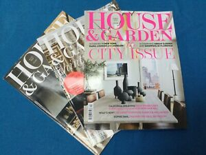 House and Garden Magazine Bundle Of Three Magazines. April/May/June 2021. VGC.
