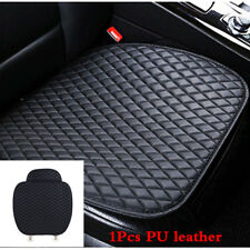 For Car Front Seat Black Cover Breathable Leather Cushion Chair Mat Pad Protect