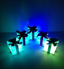 5 colori cangianti LED pacchi Natale Illuminare presenta/Pacchi/Decorazione Nuovo