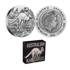 Australian Kangaroo 2016 $2 2oz Silver High Relief Antiqued Coin
