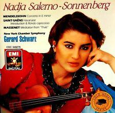 """Nadja Salerno-Sonnenberg - ""Gerard Schwarz"" - ( CD- EMI Records )"