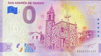 BILLET 0  EURO SAN ANDRES DE TEXEIDO ANNIVERSARY ESPAGNE  2020  NUMERO 4401