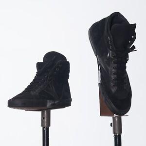 Saint Laurent Black High Top Suede Sneakers EU41.5 US8.5