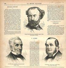Edouard Plouvier Felix-Auguste Duvert Antonio Tamburini GRAVURE OLD PRINT 1876