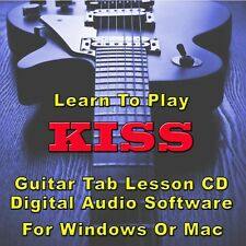 KISS Guitar Tab Lesson CD Software - 153 Songs