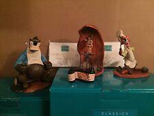WDCC Song of the South 4pc Set - Brer Rabbit, Brer Fox, Brer Bear, Title – New