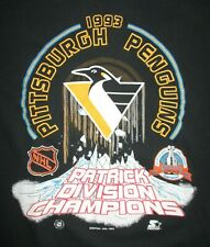 1993 Starter PITTSBURGH PENGUINS Patrick Division Champs (LG) Shirt STANLEY CUP