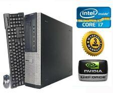 DELL Gaming PC Desktop *QUAD Core i7* GeForce GTX 1030 • 12GB RAM • 1TB • Win 10