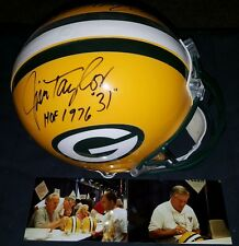 PAUL HORNUNG & JIM TAYLOR SIGNED AUTHENTIC FULL SIZE HELMET GREEN BAY PACKERS