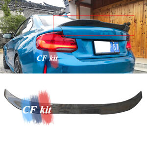 For 14--20 BMW F22 2 Series F87 M2 PSM Style Carbon Fiber Trunk Spoiler Wings