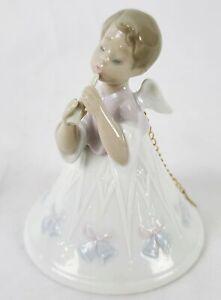 Lladro Heavenly Angle Flutist Bell Ornament