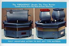 Vibrasonic Gem Tumbler VINTAGE CHROME ADVERTISING PC Mineralogy 1965