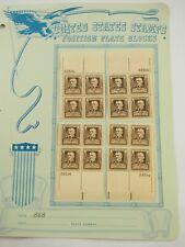 Scott 869 James W. RILEY Plate block (22514) block All Four Corners 1940 10c FVF