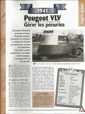 FICHE AUTOMOBILE - LA PEUGEOT VLV 1941