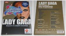 LADY GAGA BIG WEEKEND DVD HD 2011 (STAMPA CINESE)