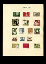 Netherlands Album Page Of Stamps #V5246