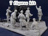 1/35 Resin German Flak crew 88 7 Figures Kit Unpainted Unbuild QJ156