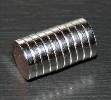 10er-Set Magnete Neodym-Scheiben 10mm x 2mm N35 rund *NEU