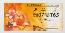 ORIG. ticket asia juegos china 2010 singapur-qatar rara vez!!!