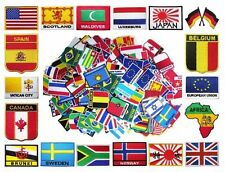Wholesale Lot 100 Mixed FLAG PATCH Iron Sew On Wappen Europe USA UK Asian Africa