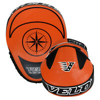 VELO Smartie Leather Curved Focus Pads Hook and Jab Boxing Muay Thai Mitts MMA