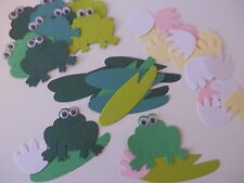 google eye frogs on lily pads sizzix die cuts