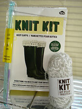 Knit Kit Complete Kit to Knit Boot Cuffs Wool/Needles Novel Gift Idea BNIB