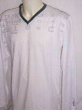 TEE SHIRT neuf Manches Longues col pointe SUN VALLEY taille XL coloris Blanc
