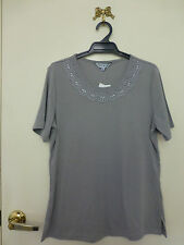 *NONI B* Size M BNWT Gorgeous Gunmetal T Shirt Top
