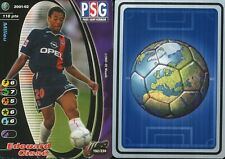192 EDOAURD CISSE # FRANCE CARD CARTE WIZARDS FOOT 2001-2002
