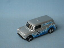 Matchbox Austin Mini Van Silver Body Pluming Plumber 65mm Long Toy Model Car