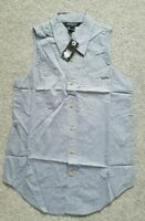 Atticus Woman's Pale Blue Eyes Denim look Shirt UK Size L. Brand New With tags