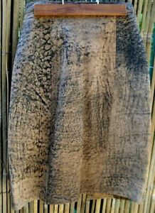 RARE Retro IN ACTION LEATHER Sydney (Approx. Size 8) ABSTRACT REPTILE Skirt VG