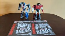 Transformers War For Cybertron Siege Sideswipe and Mirage