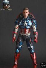 Play Arts Kai Variant Marvel Universe Avenger Captain America Action Figure Toys