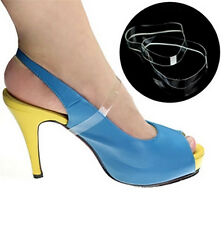 Clear invisible Shoe straps for holding loose shoes Dancing high heels mules
