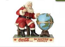 Jim Shore Coca Cola Jolly Journey Santa and Globe Christmas Figurine 6000998 New