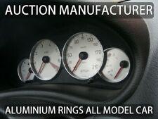 Pour Peugeot 206 1998-2012 Cerclages De Compteur Aluminium Anneaux Chrome x4