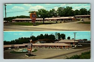 Cleveland TN-Tennessee, Holiday Hill Motel, Chrome c1968 Postcard