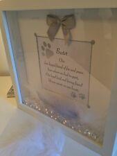 Personalised 3D Box Frame In Loving Memory Dog, Pet