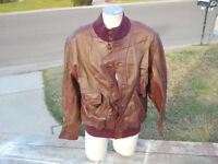 Vintage Rare Soft Calf ? Leather Reversable Suede  Jacket Made in Italy sz 52