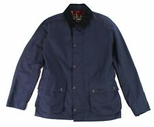 Barbour Mens Jacket Navy Blue Size Medium M Full-Zipped Collared $299- #301