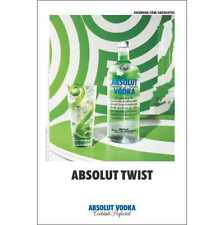 """ABSOLUT TWIST""""  24 BY 36  POSTER"""