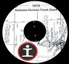 Illinois Central Gulf 1975 Alabama Division Track Profile PDF Pages on DVD