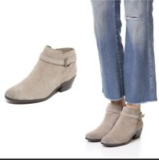 New $150 Sam Edelman Pirro Putty Grey Suede Bootie Ankle Boots Size 6 M