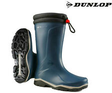 Dunlop Blizzard Warm Blue Fleece Lined Padded Collar Wellies Wellington Boots