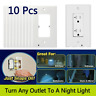 10 Decro Night Angel Light Wall Outlet Light LED Sensor Plug Coverplate Hallway